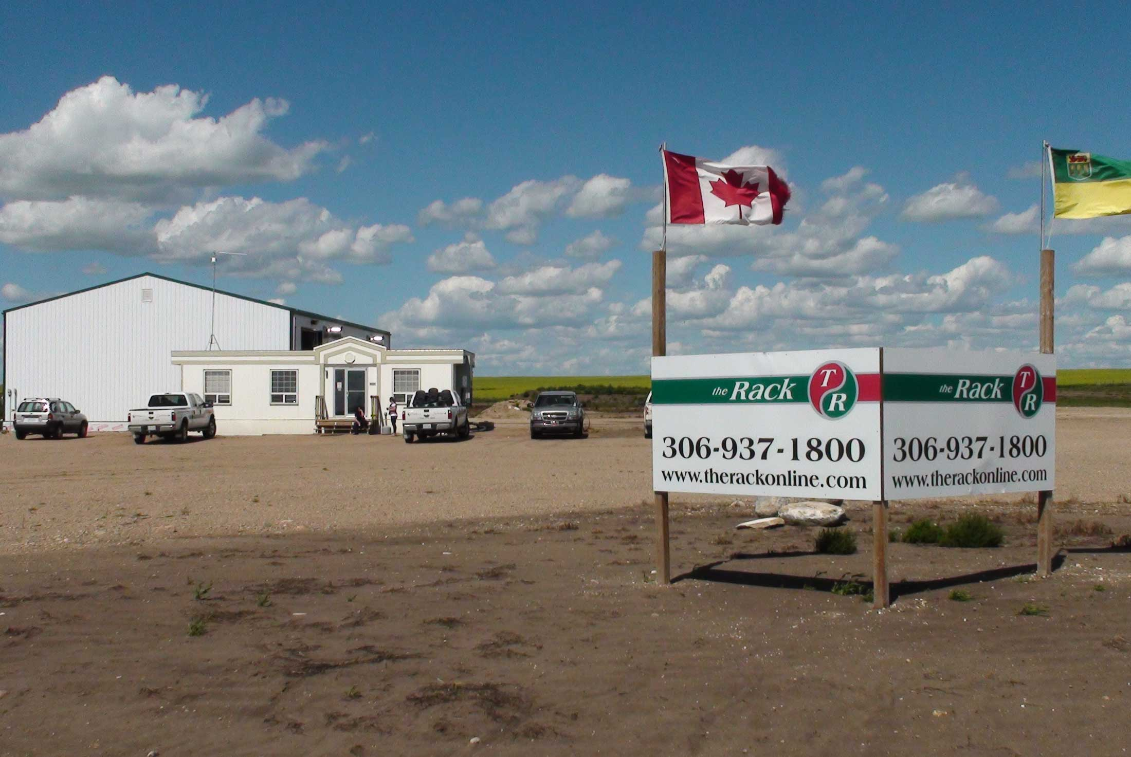 The Rack retail office in North Battleford